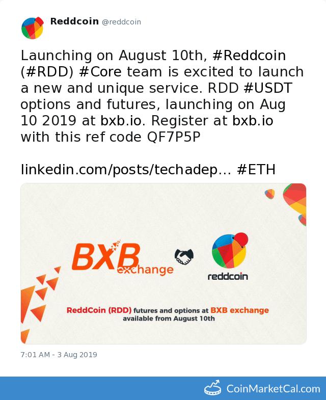 ReddCoin (RDD) - Events & News