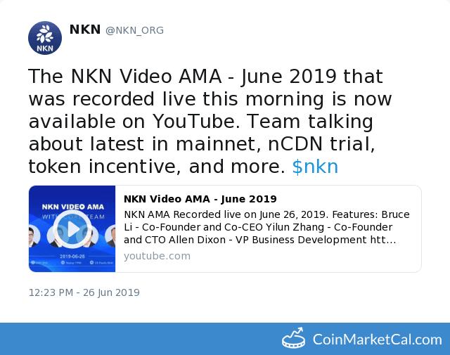NKN (NKN) - Events & News