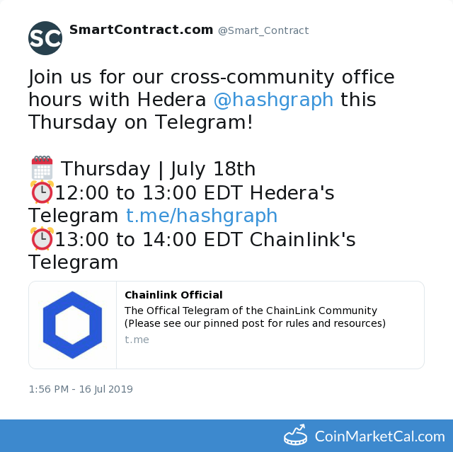 Chainlink (LINK) - Office Hours w/Hedera