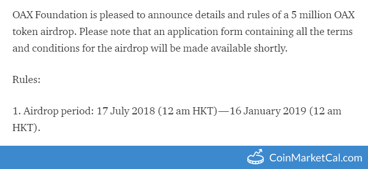 Airdrop Period Ends