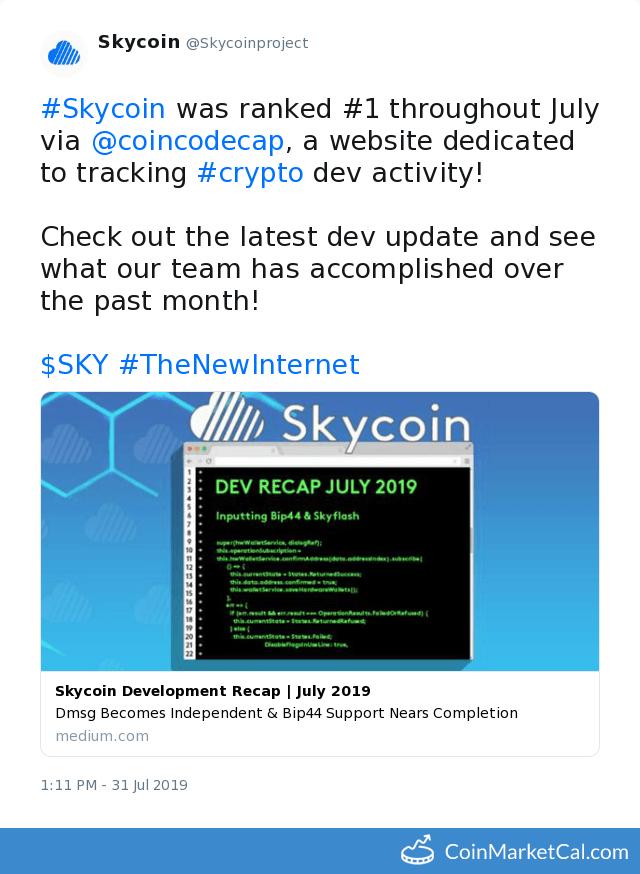 Skycoin (SKY) - Events & News