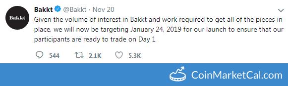 Bakkt Launch Date