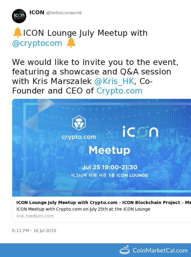 Crypto com (MCO) - Events & News