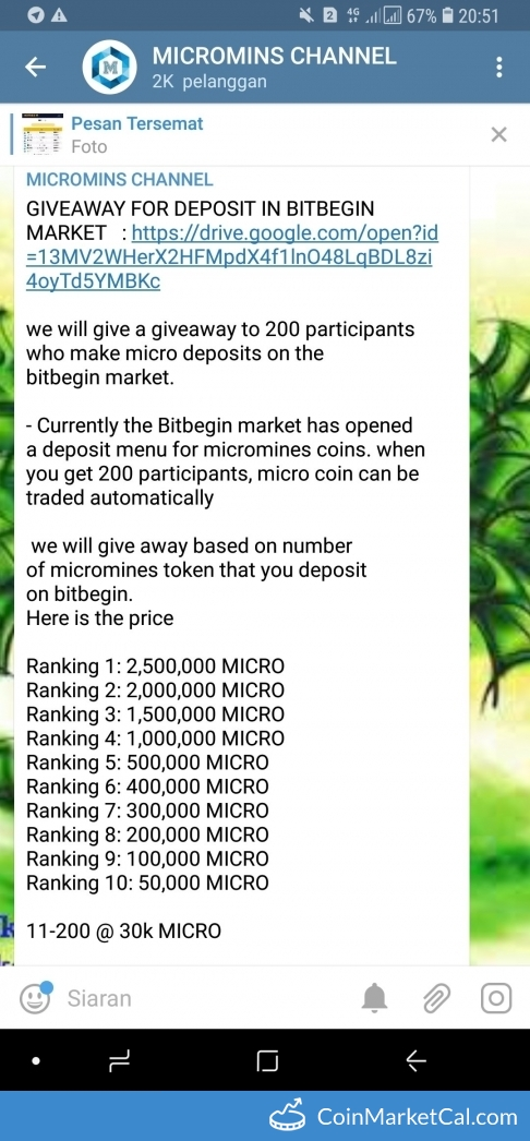 Airdrop Competition Deposit