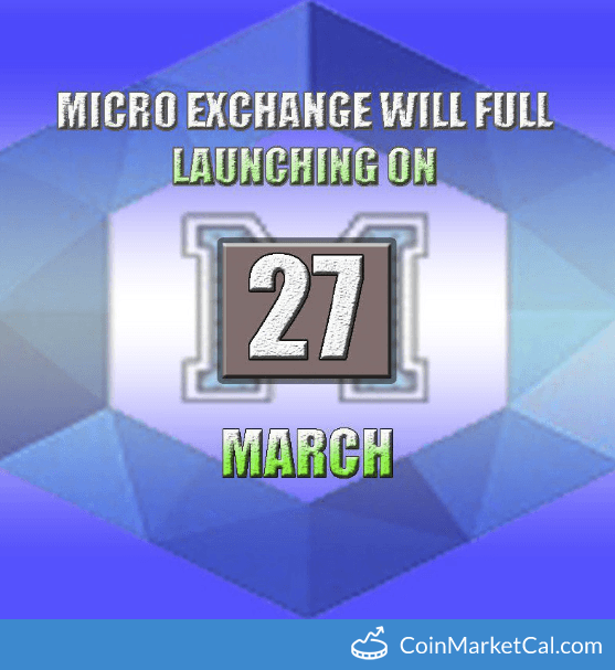 MicroExchange Launch