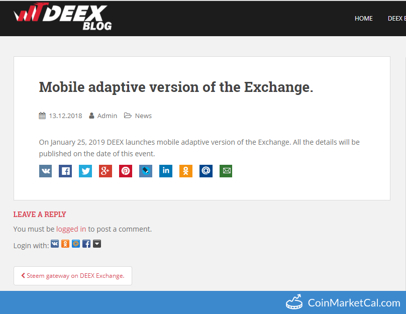 Exchange Mobile Version
