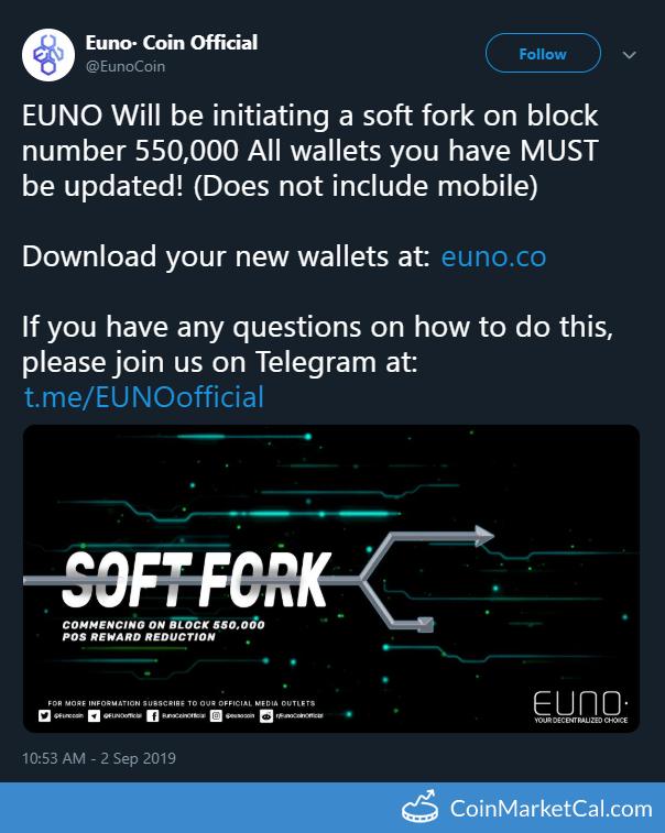 EUNO (EUNO) - Soft Fork and Update