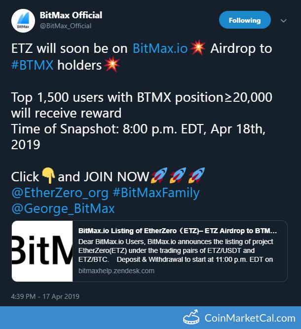 BitMax Token (BTMX) - Events & News