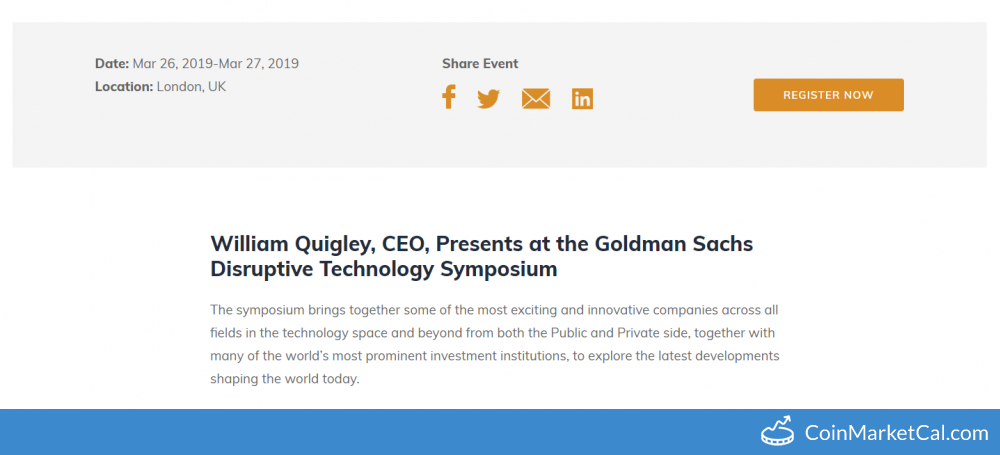 Goldman Sachs Disruptive