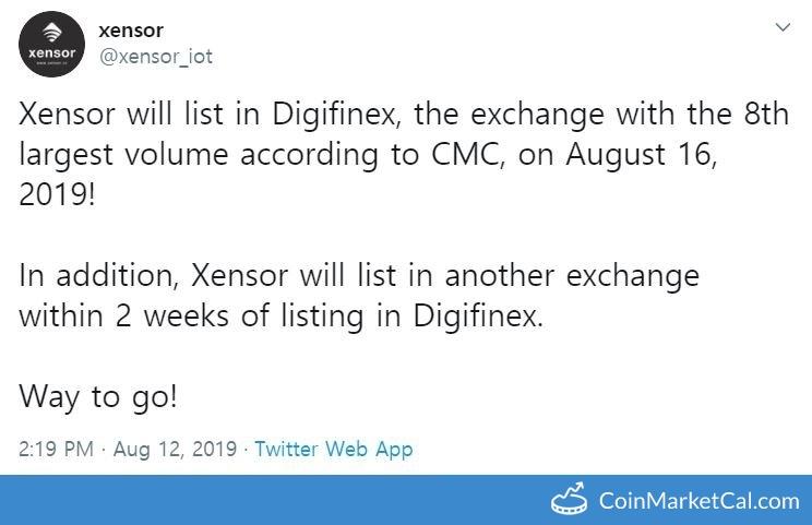 Xensor (XSR) - Xensor on Digifinex